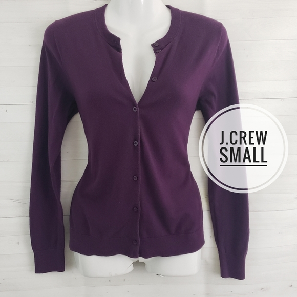 J. Crew Sweaters - Small J. Crew Purple Cardigan Sweater